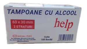 Tampoane cu alcool 100 buc/cutie